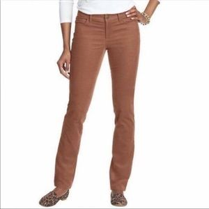 Loft Curvy Straight Leg Brown Corduroy Pants 6P